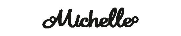 Versilbertes Armband mit Namen Michelle