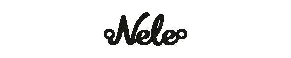 Versilbertes Armband mit Namen Nele