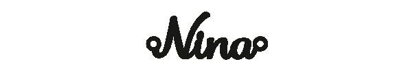 Versilbertes Armband mit Namen Nina