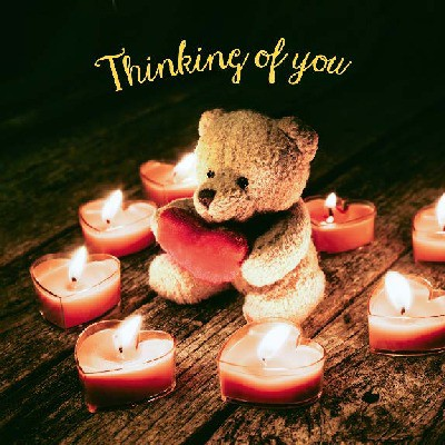 Depesche 3D Foto Klappkarte quadratisch 004 Thinking of you