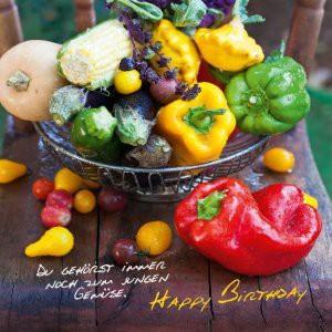 Depesche 3D Foto Klappkarte quadratisch 006 Du gehörst immer noch zum jungen Gemüse.
