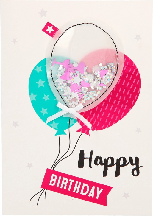100% Glitzer Geburtstagskarte Anlasskarte Klappkarte10496-039: Happy Birthday