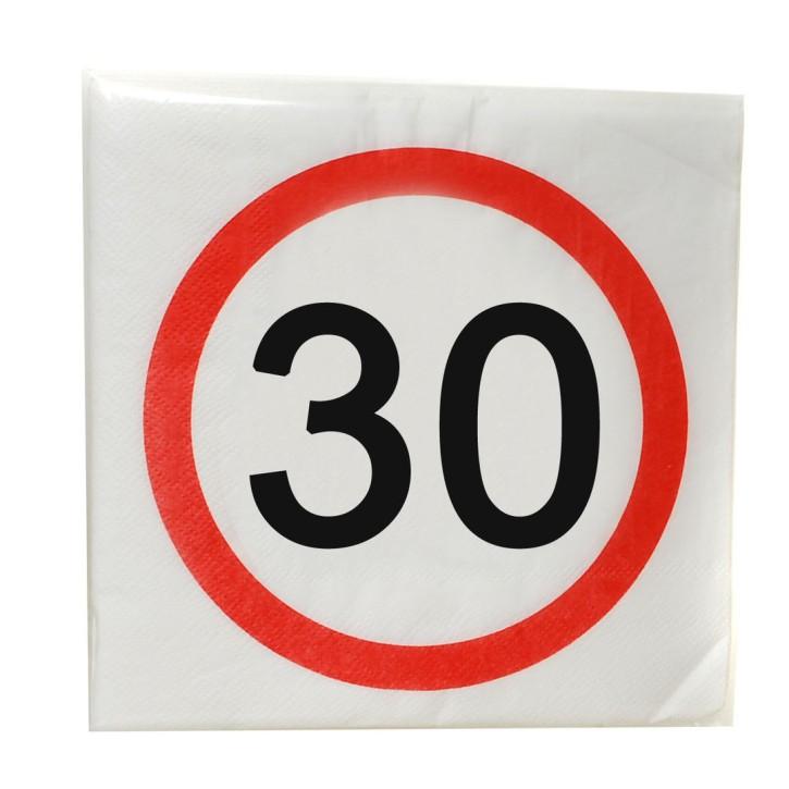 """Servietten """"30"""", 12-tlg. zum 30. Geburtstag"""