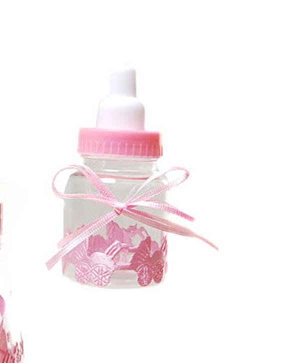 Mini-Nuckelflasche zum Befüllen rosa