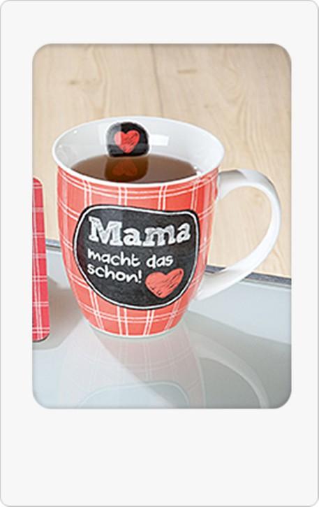 Porzellan Jumbo-Tasse Mama macht das schon