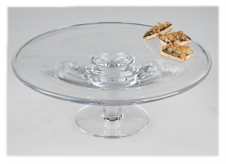 Dekorative Tortenplatte auf Fuß Kuchenplatte aus Glas