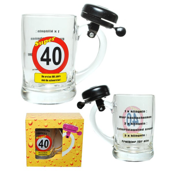 "Klingel-Bierseidel zum 40. Geburtstag ""Super 40"""