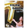 """1 Stück Riesen-Folien-Ballon """"7"""", gold 1m groß"""