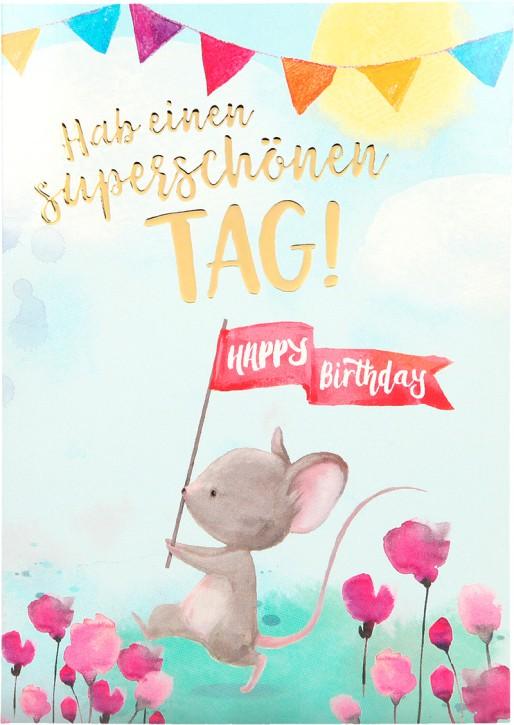 Depesche Portofino Klappkarten Geburtstagskarten 013 -Hab einen wunderschönen Tag! Happy...
