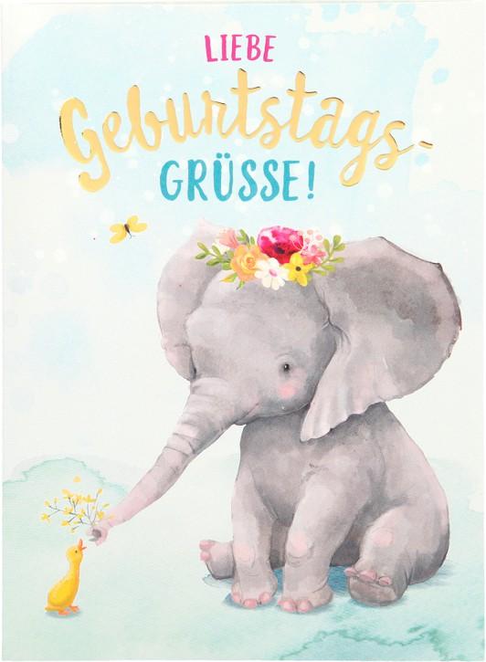 Depesche Portofino Klappkarten Geburtstagskarten 014 - Liebe Geburtstagsgrüße!
