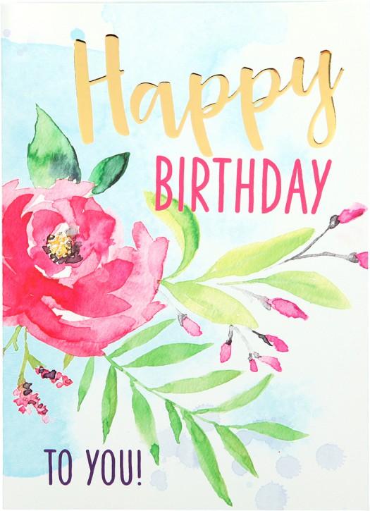 Depesche Portofino Klappkarten Geburtstagskarten 017 - Happy Birthday to you!