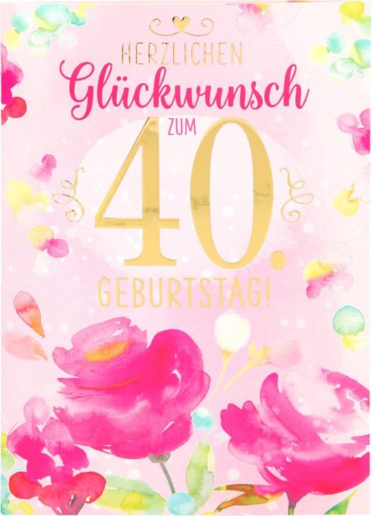 Depesche Portofino Klappkarten Geburtstagskarten 003 - Herzlichen Glückwunsch zum 40. ...