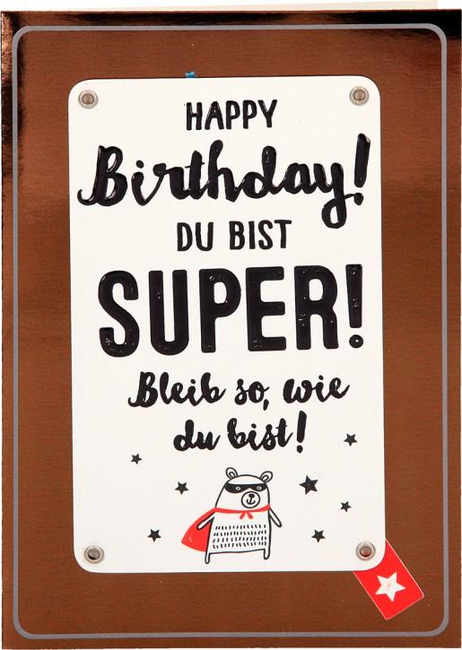 Depesche Portofino Klappkarten Geburtstagskarten 023 - Genieße die kleinen Dinge im Leben