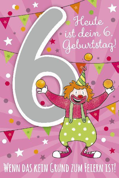 Depesche Zahlenkarten mit Musik Heute ist dein 6. Geburtstag! Wenn...