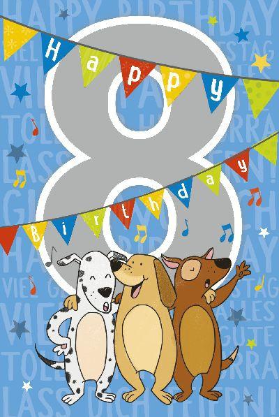 Depesche Zahlenkarten mit Musik 8 Happy Birthday