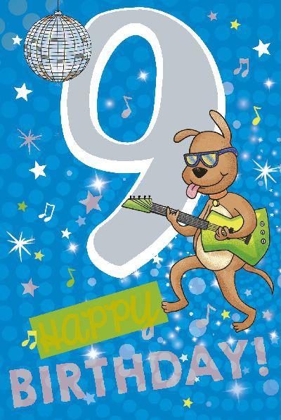 Depesche Zahlenkarten mit Musik 9 Happy Birthday!