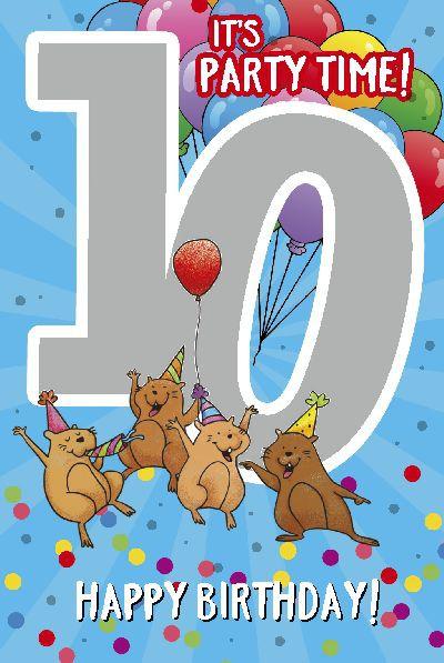 Depesche Zahlenkarten mit Musik 10 It's party time! Happy Birthday!