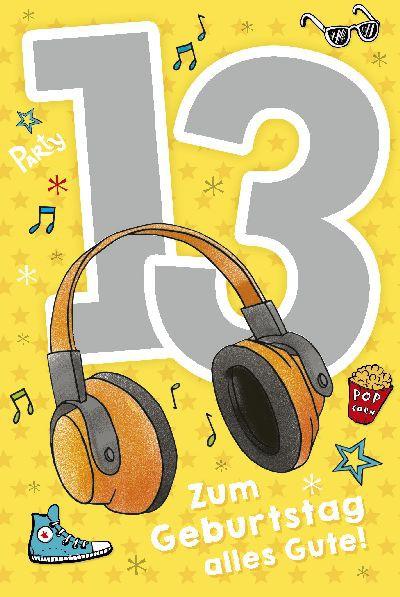 Depesche Zahlenkarten mit Musik 13 Zum Geburtstag alles Gute!