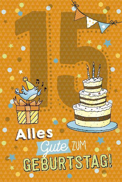 Depesche Zahlenkarten mit Musik 15 Alles Gute zum Geburtstag!