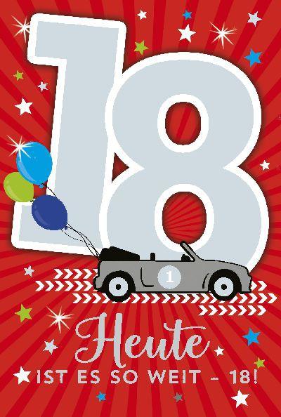 Depesche Zahlenkarten mit Musik 18 Heute ist es soweit - 18!