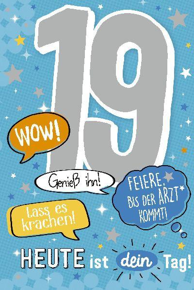 Depesche Zahlenkarten mit Musik 19 Wow! Heute ist dein Tag!