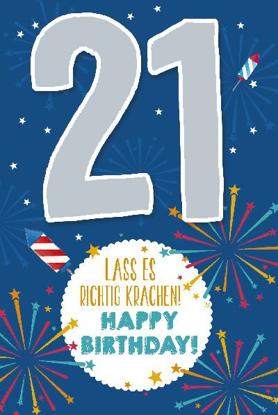 Depesche Zahlenkarten mit Musik 21 Lass es richtig krachen! Happy...