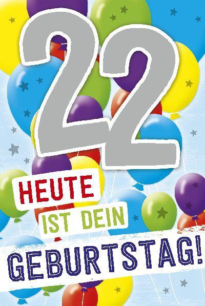 Depesche Zahlenkarten mit Musik 22 Heute ist dein Geburtstag!