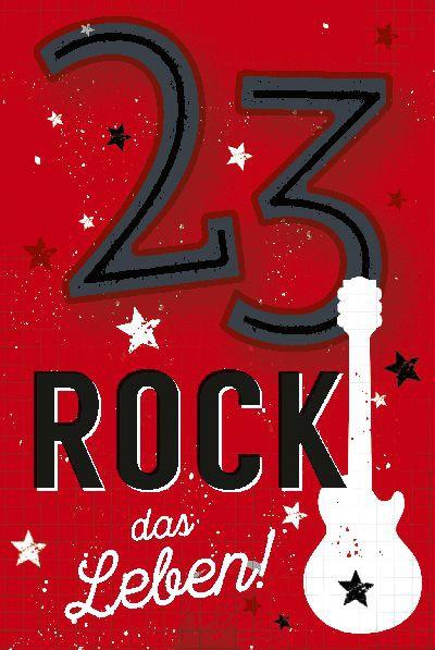 Depesche Zahlenkarten mit Musik 23 Rock das Leben!