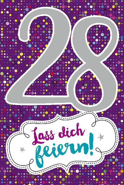 Depesche Zahlenkarten mit Musik 28 Lass dich feiern!