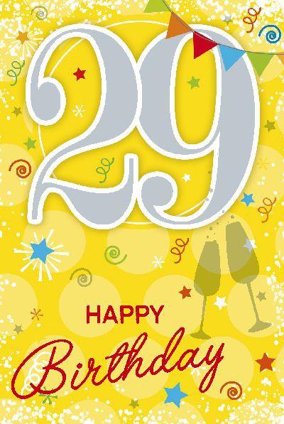 Depesche Zahlenkarten mit Musik 29 Happy Birthday
