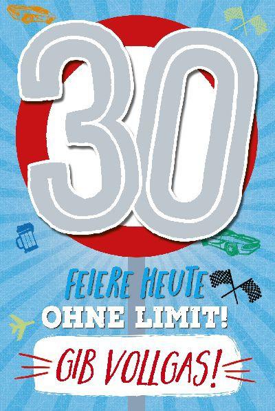 Depesche Zahlenkarten mit Musik 30 Feiere heute ohne Limit! Gib Vollgas!