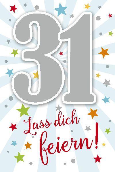 Depesche Zahlenkarten mit Musik 31 Lass dich feiern!