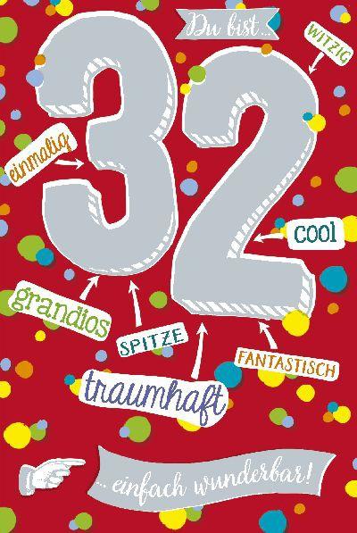 Depesche Zahlenkarten mit Musik 32 Du bist einfach wunderbar!