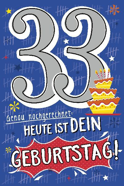 Depesche Zahlenkarten mit Musik 33 Heute ist dein Geburtstag!