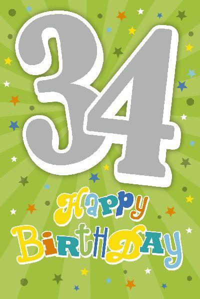 Depesche Zahlenkarten mit Musik 34 Happy Birthday