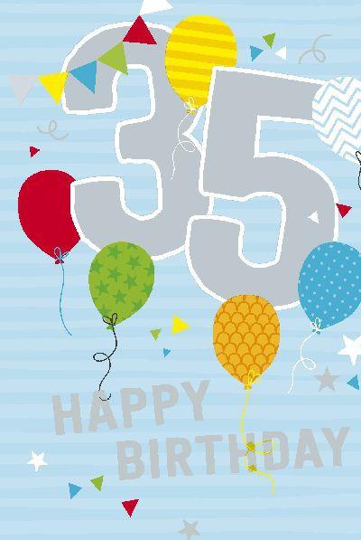 Depesche Zahlenkarten mit Musik 35 Happy Birthday