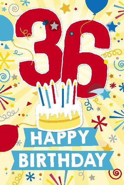 Depesche Zahlenkarten mit Musik 36 Happy Birthday