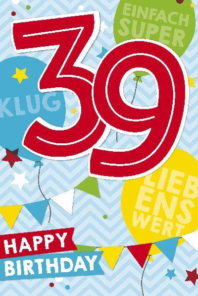 Depesche Zahlenkarten mit Musik 39 Happy Birthday