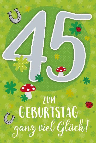 Depesche Zahlenkarten mit Musik 45 Zum Geburstag ganz viel Glück!