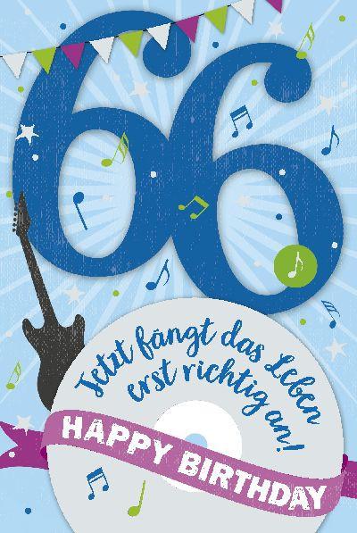 Depesche Zahlenkarten mit Musik 66 Jetzt fängt das Leben erst richtig...