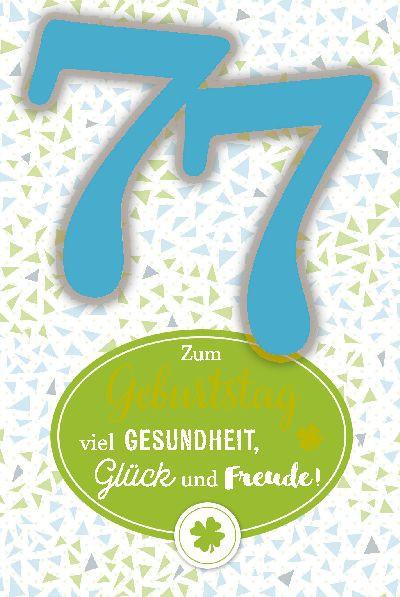 Depesche Zahlenkarten mit Musik 77 Zum Geburtstag viel Gesundheit, Glück