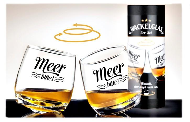 Gläser-Set dekorative Form Geschenke aus Glas Wackelglas Meer