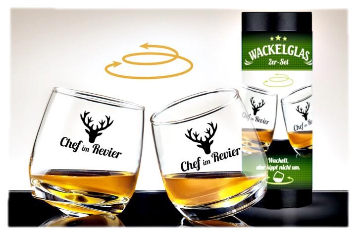 Gläser-Set dekorative Form Geschenke aus Glas Wackelglas Chef