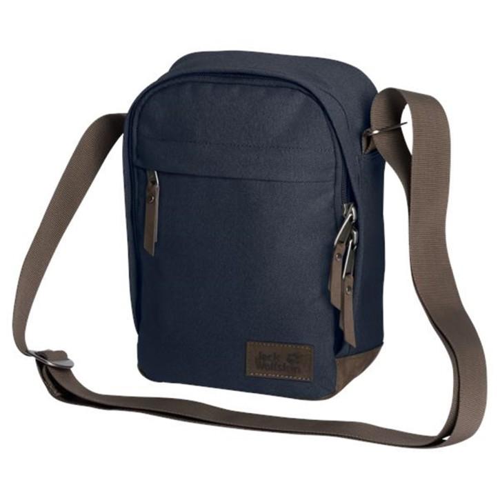 Jack Wolfskin Herrentasche Heathrow night blue kleine Umhängetasche für Reise und Alltag
