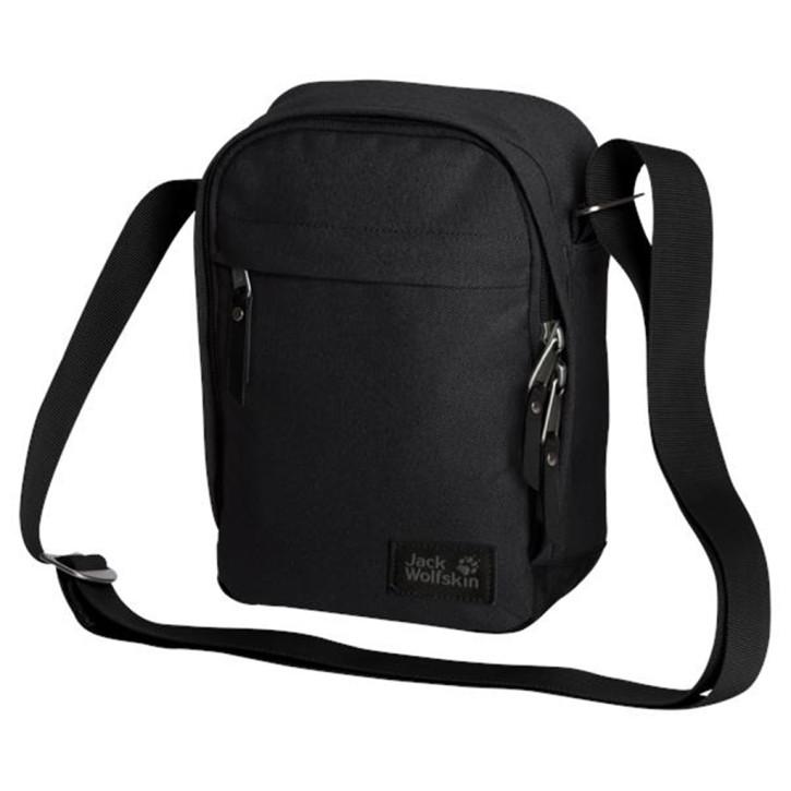 Jack Wolfskin Herrentasche Heathrow ultra black kleine Umhängetasche für Reise und Alltag