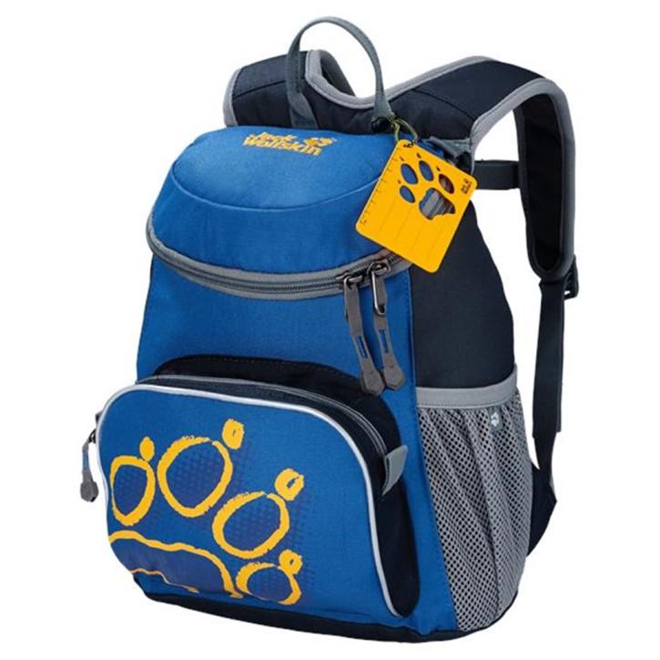 Jack Wolfskin Kleiner robuster Tagesrucksack für Kindergarten und erste Wanderungen Kindergartenrucksack Little Joe night blue
