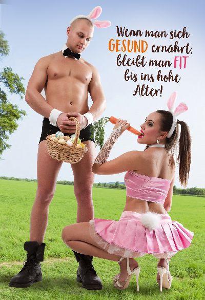 Depesche Hans und Grete 3D Klappkarte Wenn man sich gesund ernährt,...
