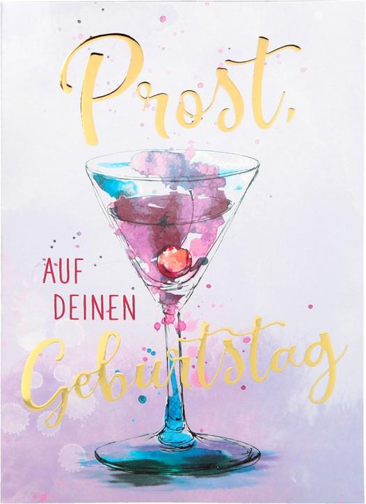 Depesche Portofino Klappkarten Geburtstagskarten 042 - Prost, auf deinen Geburtstag