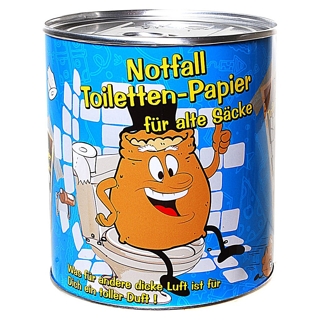 Ruhestand Geschenk Toilettenpapier In Dose Alter Sack