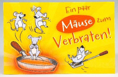Klappkarte Ein Paar Mause Zum Verbraten